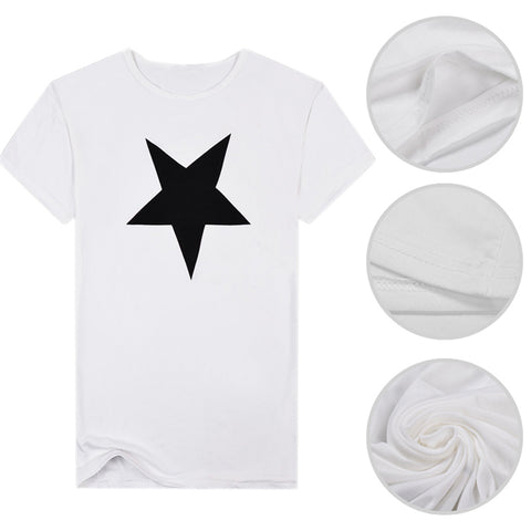 Fashion Star Men Crew Neck Short Sleeve Slim Fit Pullover T-shirt Casual Top - RELEVAZA