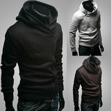 Men Fashion Long Sleeve Zipper Sports Hooded Coat Sweatshirt Casual Outwear - RELEVAZA