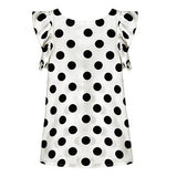 Fashion Women Polka Dots Casual Chiffon Blouse Short Sleeve T-shirt Summer Tops - RELEVAZA