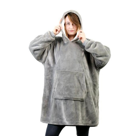 Huggle Hoodie Woman Hoodie Indoor Soft and Warmft One Size Extra Large Hood Soft Plush Blanket Outdoor Wool Hoodie - RELEVAZA