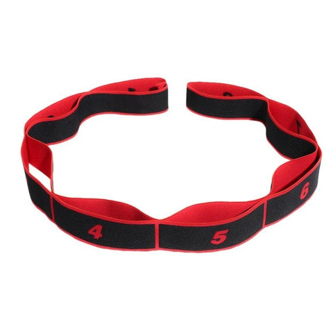 Yoga Pull Strap Belt Polyester Latex Elastic Latin Dance Stretching Band Loop Yoga Pilates GYM Fitness Exercise Resistance Bands - RELEVAZA