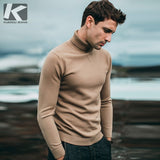 KUEGOU 2019 Autumn Plain Black Turtleneck Sweater Men Pullover Casual Jumper For Male Brand Knitted Korean Style Clothes 89002 - RELEVAZA
