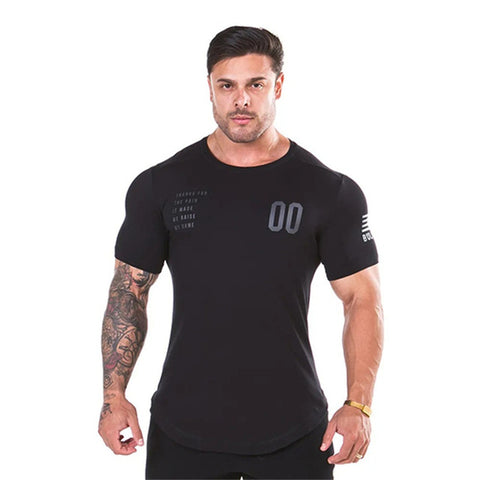 2019 New Plain Clothing fitness t shirt men O-neck t-shirt cotton bodybuilding tee shirts tops gyms tshirt Homme - RELEVAZA