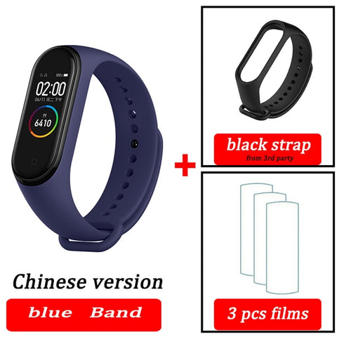 Original XiaoMi  Mi Band 4 Smart Wristband Fitness Bracelet MiBand Band 4 Heart Rate Time Big Touch Screen  Message Smartband - RELEVAZA