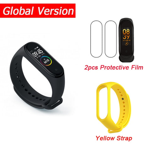 "In Stock New Xiaomi Mi Band 4 Smart Miband 4 0.95"" AMOLED Screen Waterproof Heart Rate Fitness 135mAh 20 Bluetooth 5.0 50ATM - RELEVAZA"