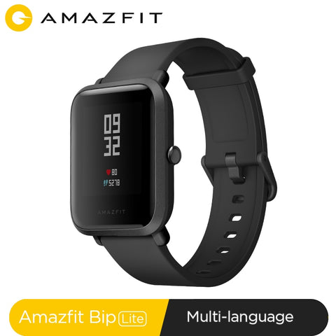 In Stock Global Version Amazfit Bip Lite Smart Watch 45-Day Battery Life 3ATM Water-resistance Smartwatch For Xiaomi New 2019 - RELEVAZA