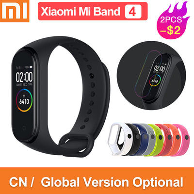 Global version original xiaomi mi band 4 color screen 2019 latest music smart bracelet heart rate fitness 135mAh bluetooth 5.0 - RELEVAZA