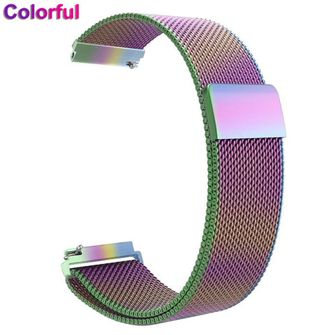 XShum Metal Stainless Steel Band For Fitbit Versa Strap Wrist Milanese Magnetic Bracelet fit bit Lite Verse 2 Band Accessories - RELEVAZA