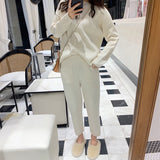 Women Sweater Two Piece knitted Sets Slim Tracksuit 2019 Spring Autumn Fashion Sweatshirts Sporting Suit Female - RELEVAZA
