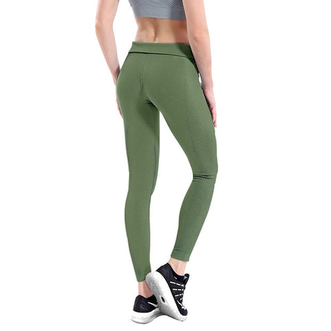 Women High Elastic Fitness Sport Gym Leggings Yoga Pants Slim Running Tights Sportswear Sports Pants Trousers Clothing Seamless - RELEVAZA