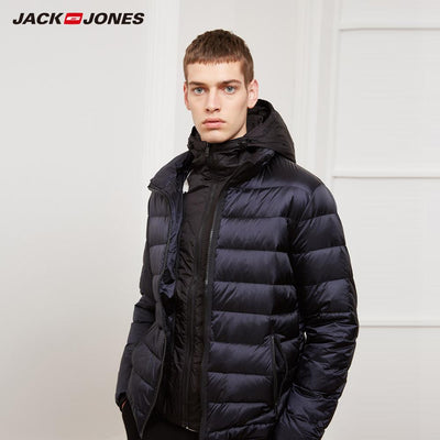 JackJones Men's Hooded Short Down Jacket Parka Coat Outerwear Menswear 218312522 - RELEVAZA