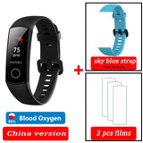 blood oxygen Honor band 5 smart band AMOLED Huawe honor smart watch heart rate fitness sleep swimming sport tracker - RELEVAZA