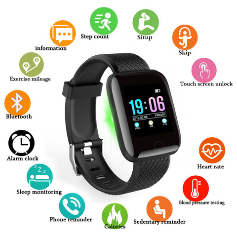 Doolnng Smart Watch Men Blood Pressure Smartwatch Women Heart Rate Monitor Fitness Tracker Watch Sport For Android IOS - RELEVAZA
