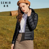 SEMIR 2019 New basic Down Winter jackets Women Winter plus velvet hooded Coats Down Winter Jacket Woman Outwear warm portable - RELEVAZA