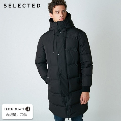 SELECTED 2019 New Winter Down Jacket Men's Zipper and Hat Casual Clothes Medium-and-Long Coat  S | 418412503 - RELEVAZA