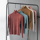Cashmere Sweater Thin Basic Knitted Sweater Women Turtleneck Pullovers 2019 Autumn Winter Tops Female Jumpers - RELEVAZA