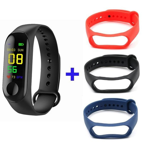 Doolnng M3 Plus Sport Fitness tracker Watch Smartband Smart Bracelet Blood Pressure Heart Rate Monitor Smart band Wristband Men - RELEVAZA