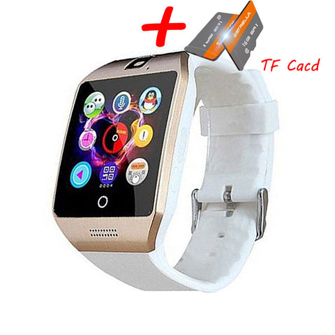 Q18 Bluetooth Smart Watch Q18 Fitness Tracker Touch Screen Support APP Download TF Sim Card Camera Dial /Call for Android Phone - RELEVAZA