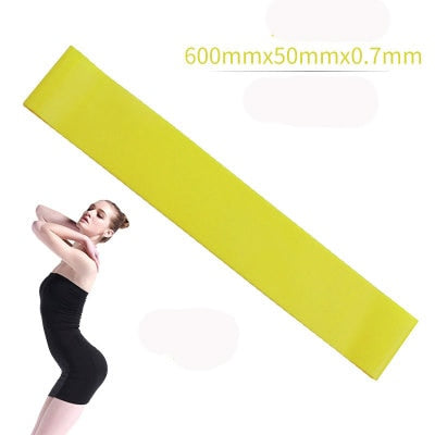 5 Colors Yoga Resistance Rubber Bands Indoor Outdoor Fitness Equipment 0.35mm-1.1mm Pilates Sport Training Workout Elastic Bands - RELEVAZA