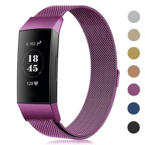 New Milanese loop strap For Fitbit charge 3 watch band  smart bracelet stainless steel belt sports watch strap wrist band - RELEVAZA