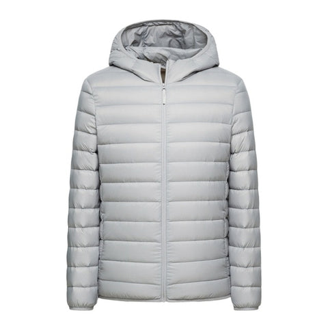 SEMIR brand men down jacket casual fashion winter jacket for men Hooded windbreaker white duck coat male outwear clothing - RELEVAZA