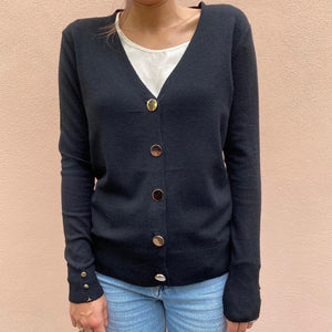 Cardigan Bottoni oro
