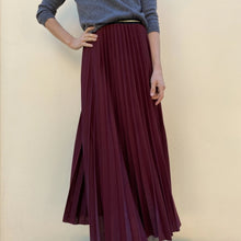 Load image into Gallery viewer, <transcy>Pleated Longuette Skirt</transcy>