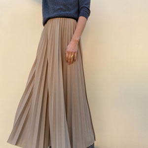 <transcy>Pleated Longuette Skirt</transcy>
