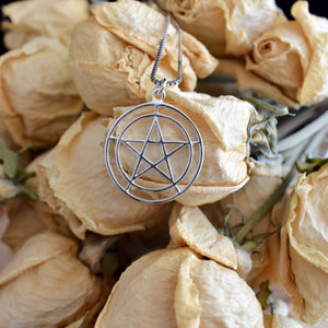 Sterling Silver Pentacle - 2 Inches