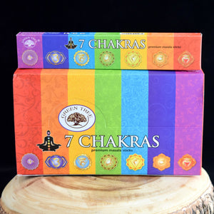 7 Chakras Premium Natural Incense Sticks - 1 Box (15g) - witchchest