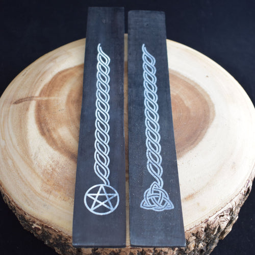 Black Wooden Incense Burner - 2 Types - witchchest