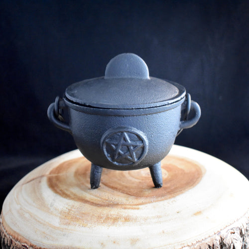 Cast Iron Cauldrons With Lid - 3 Types - witchchest