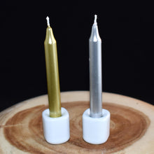 Load image into Gallery viewer, Gold & Silver Chime Candles - 1 Candle - witchchest