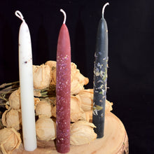 Load image into Gallery viewer, Herbal Taper Candles By BlakByrd (Ottawa) - witchchest