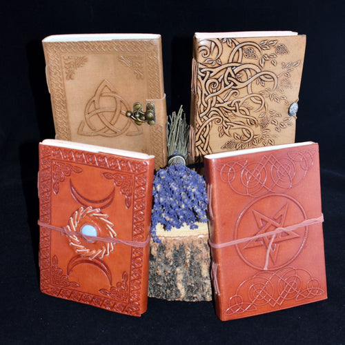 Leather Journal/Book Of Shadows - 4 Types - witchchest