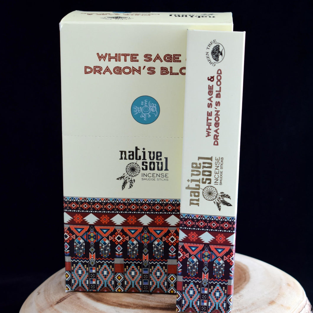 Native Soul White Sage & Dragon's Blood Incense - 1 Box (15g) - witchchest