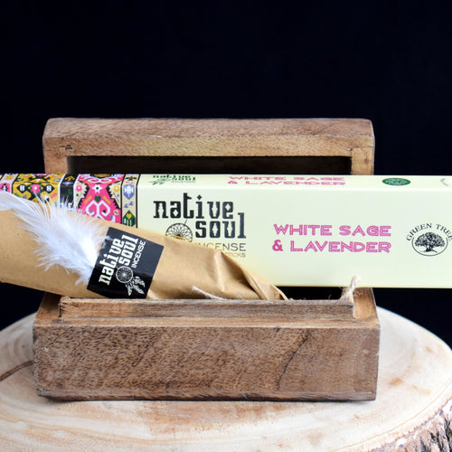 Native Soul White Sage & Lavender Incense - 1 Box (15g) - witchchest