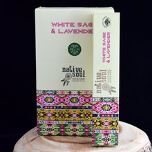 Load image into Gallery viewer, Native Soul White Sage & Lavender Incense - 1 Box (15g) - witchchest