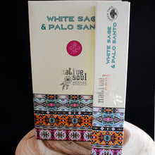 Load image into Gallery viewer, Native Soul White Sage & Palo Santo Incense Sticks- 1 Box (15g) - witchchest