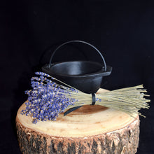 Load image into Gallery viewer, Open Cast Iron Cauldron with Handle - 2 Types - witchchest
