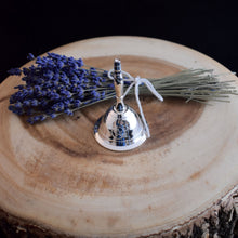 Load image into Gallery viewer, Small Silver Plated Pentacle bell - witchchest
