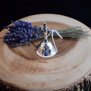 Small Silver Plated Pentacle bell - witchchest