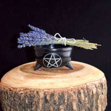 Load image into Gallery viewer, Soapstone Pentacle Smudge Pot - witchchest