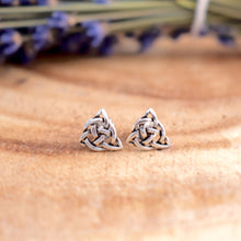 Load image into Gallery viewer, Sterling Silver Celtic Triquetra Post Earrings - witchchest
