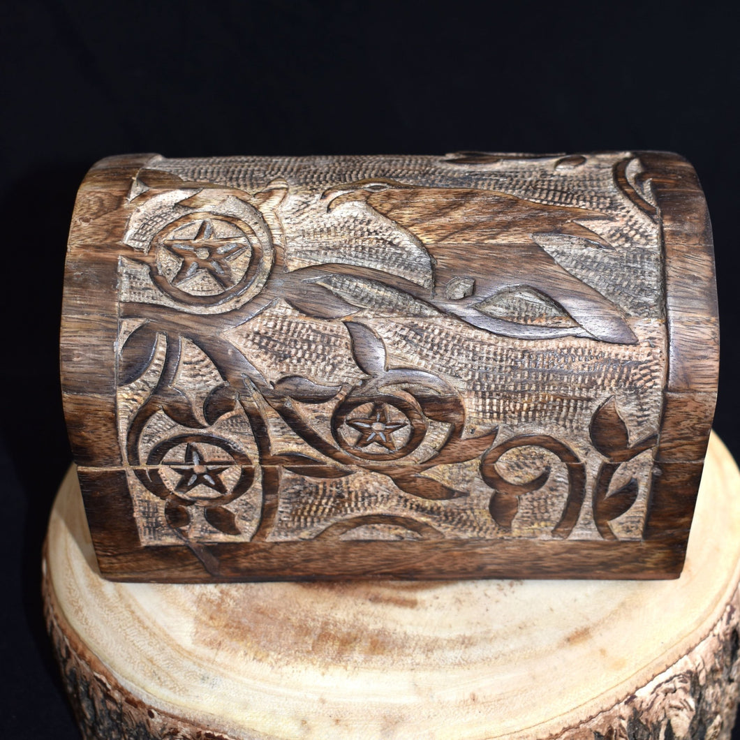 Wooden Raven Box - witchchest