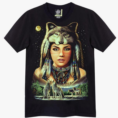 Lady Wolf T shirt - Apache Concept Store