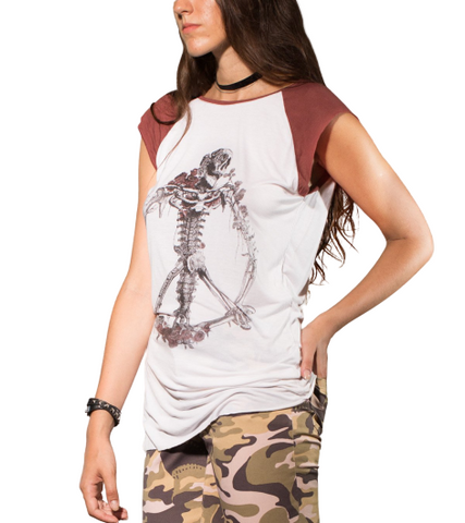 Skull Peace Top Woman - Apache Concept Store