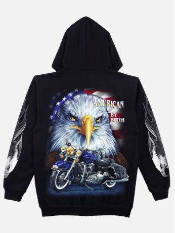 American Eagle Biker Hoodie - Apache Concept Store