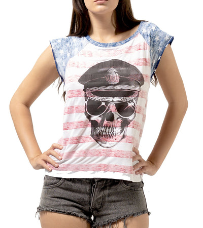 American Ladies Skull Top - Apache Concept Store