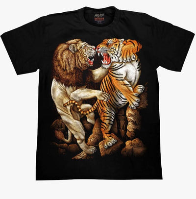 Tiger VS Lion Rock T-shirt - Apache Concept Store